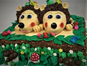hedgehogs birthday cake