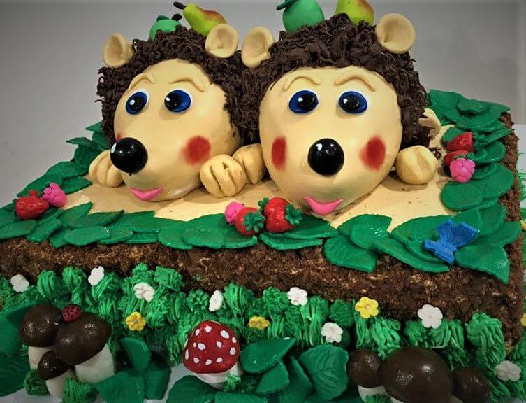 hedgehogs birthday cake
