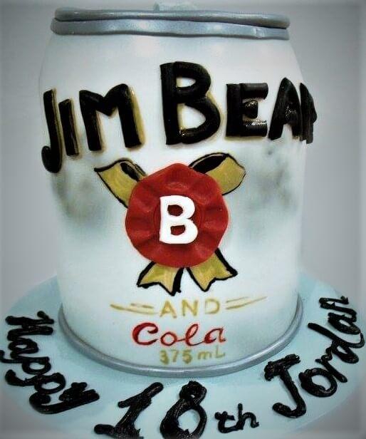 jim beam can cake