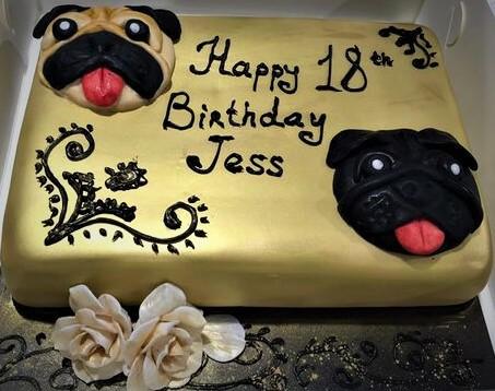 pugs dog cake