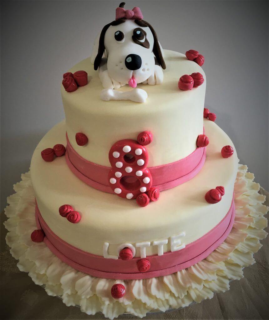 puppy dog 8th birthday cake