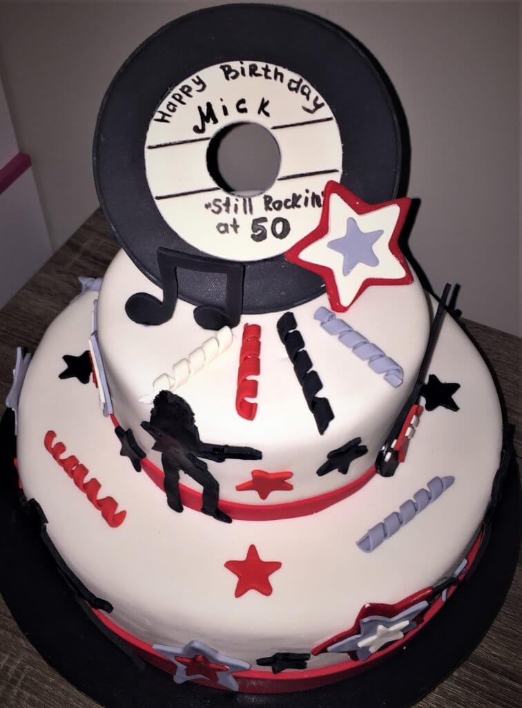 rock & roll birthday cake