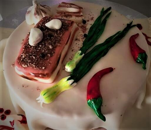 veggies novelty cake