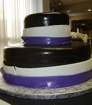 non-professional wedding cake