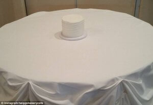 small wedding cake large table