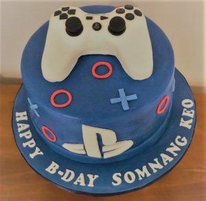 sony play station birthday cake