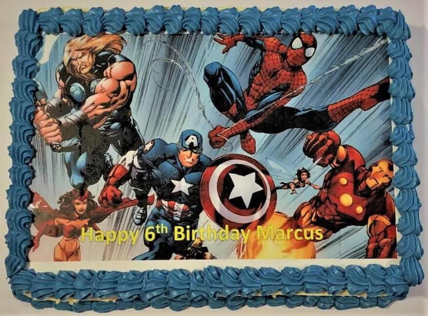 avangers birthday cake