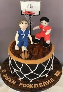 basketball players birthday cake