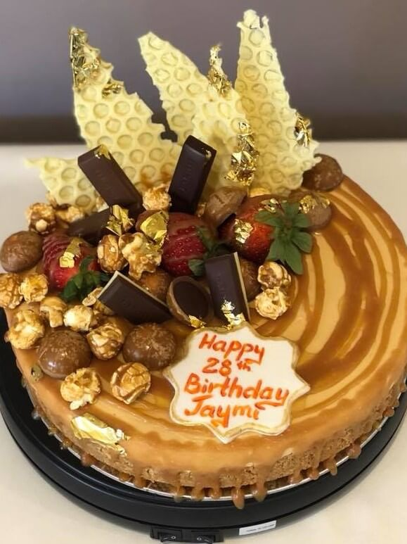 caramel birthday cake