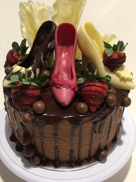 high heel shoes birthday cake