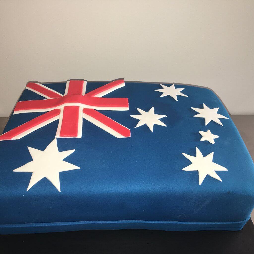 australia day flag cake