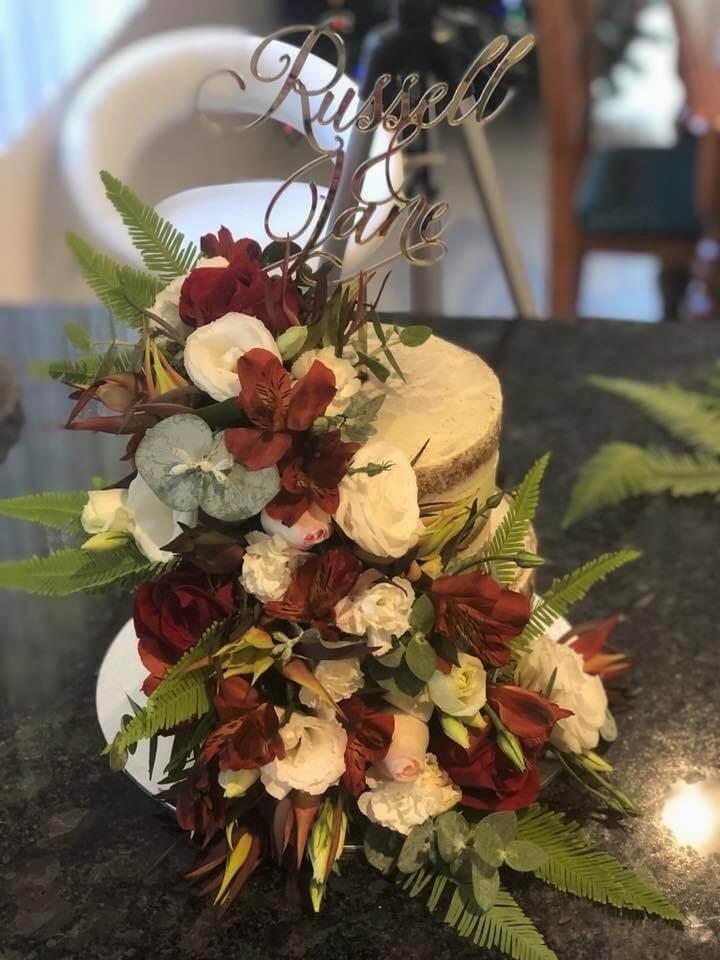 2 tier gluten free buttercream wedding cake