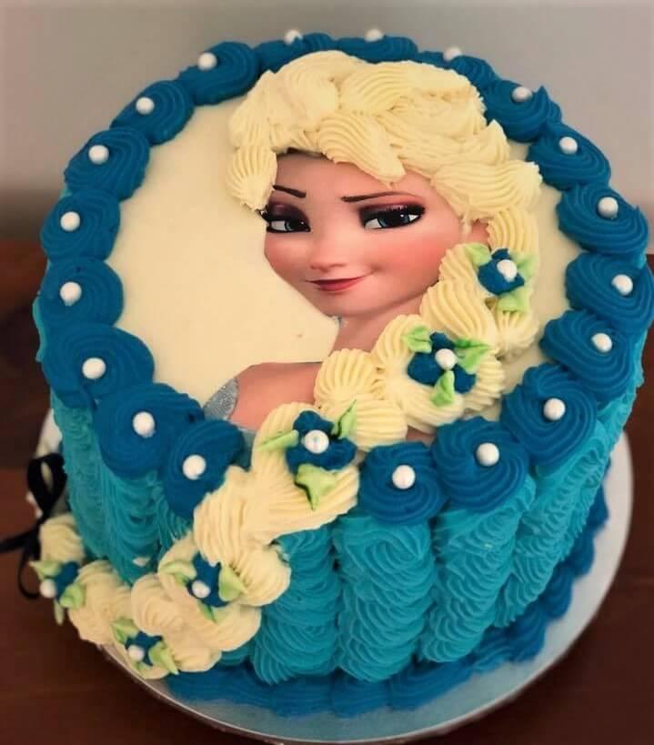 Frozen 3D birthday cake