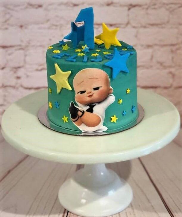 Baby Boss 1st Birthday Cake