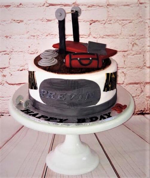 gym novelty cake