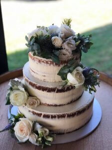 3 tier butter cream wedding cake