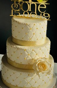 Studded Wedding Cake
