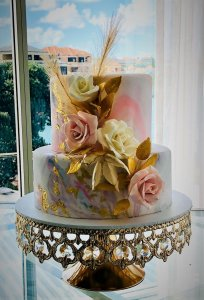 2 tier marble effect wedding cake by rimma's wedding cakes perth
