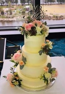 3 tier buttercream wedding cake by rimma's wedding cakes perth