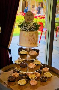 buttercream wedding cupcake tower from rimma's wedding cakes perth