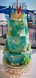 ocean themed wedding cake from rimma's wedding cakes perth