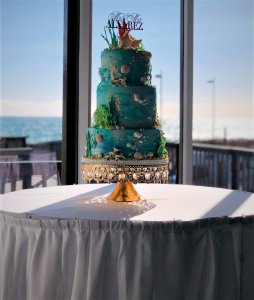 ocean themed wedding cake by rimma's wedding cakes perth