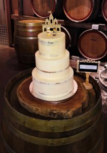 semi naked buttercream wedding cake by rimma's wedding cakes perth