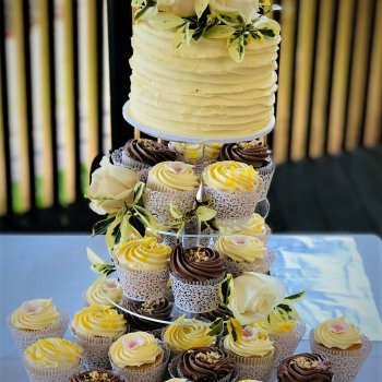 buttercream cupcake tower by rimma's wedding cakes perth