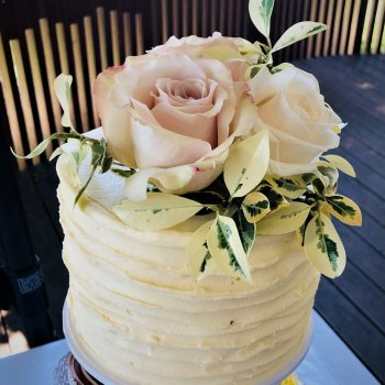 buttercream wedding cake tower by rimma's wedding cakes perth