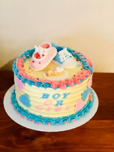 baby reveal cake by rimma's wedding cakes perth