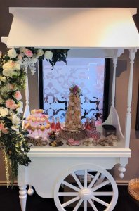 croquembouche tower with cake pops desert cart by rimma's wedding cakes perth